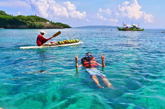 长滩岛跳岛一日游 (出海浮潜 水晶岛 鳄鱼岛 浮潜 烤肉/海鲜午餐