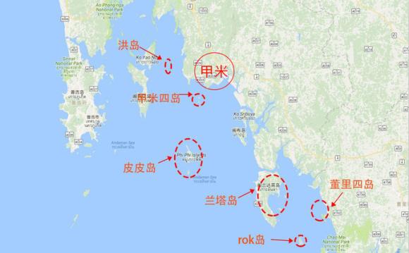 和普吉岛,攀牙湾相比,甲米目前以欧美自由行游客居多.