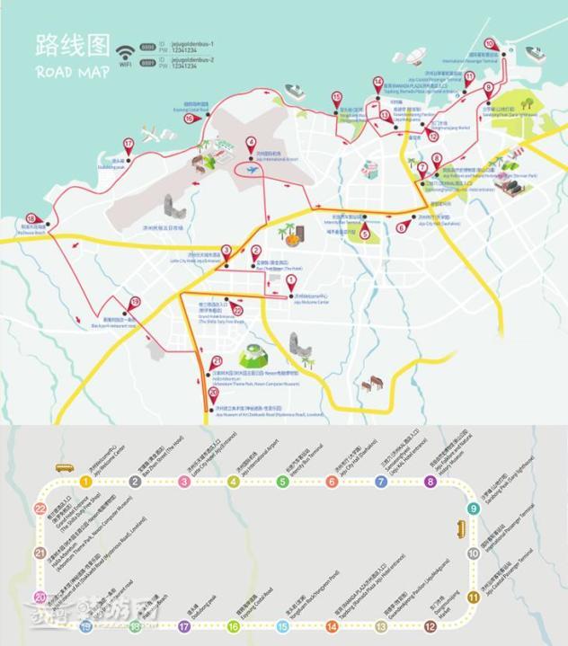 html 济州岛 黄金巴士站点分布图如下:  取票点请参考:http://www.