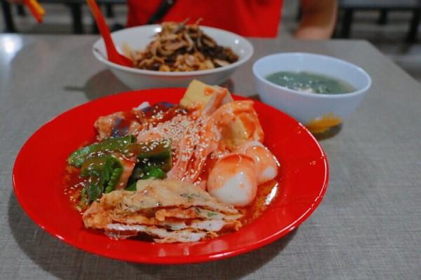 马来西亚味道肠粉:有点像拌面,在阿福猪叉烧的隔壁,游记也还板面骨豆腐汤图片