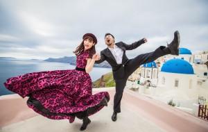 【希腊图片】【Mao&Lily蜜月之旅】希腊圣托里尼爱琴海,婚纱落日撞车游行,忘不了的精彩!
