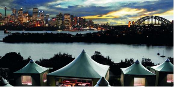 悉尼 夜宿塔龙加动物园 帐篷露营体验(头枕海港夜色/耳聆动物嬉闹
