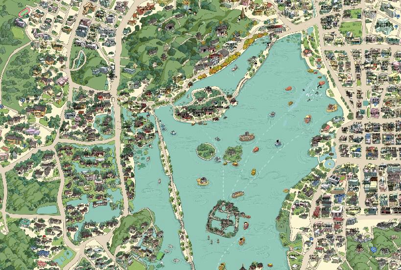 杭州旅游手绘地图 - 马蜂窝