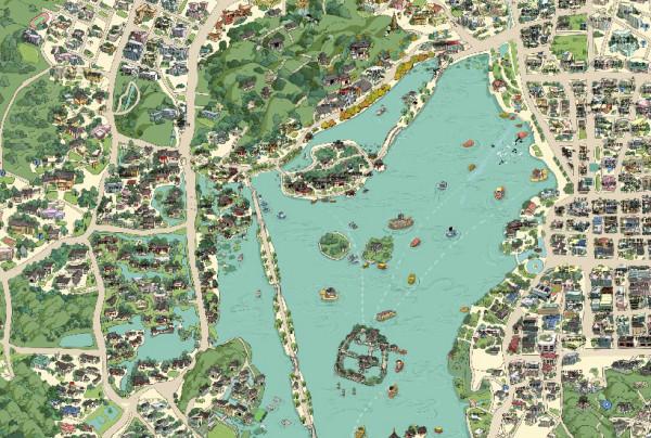 杭州旅游手绘地图--游记--蚂蜂窝