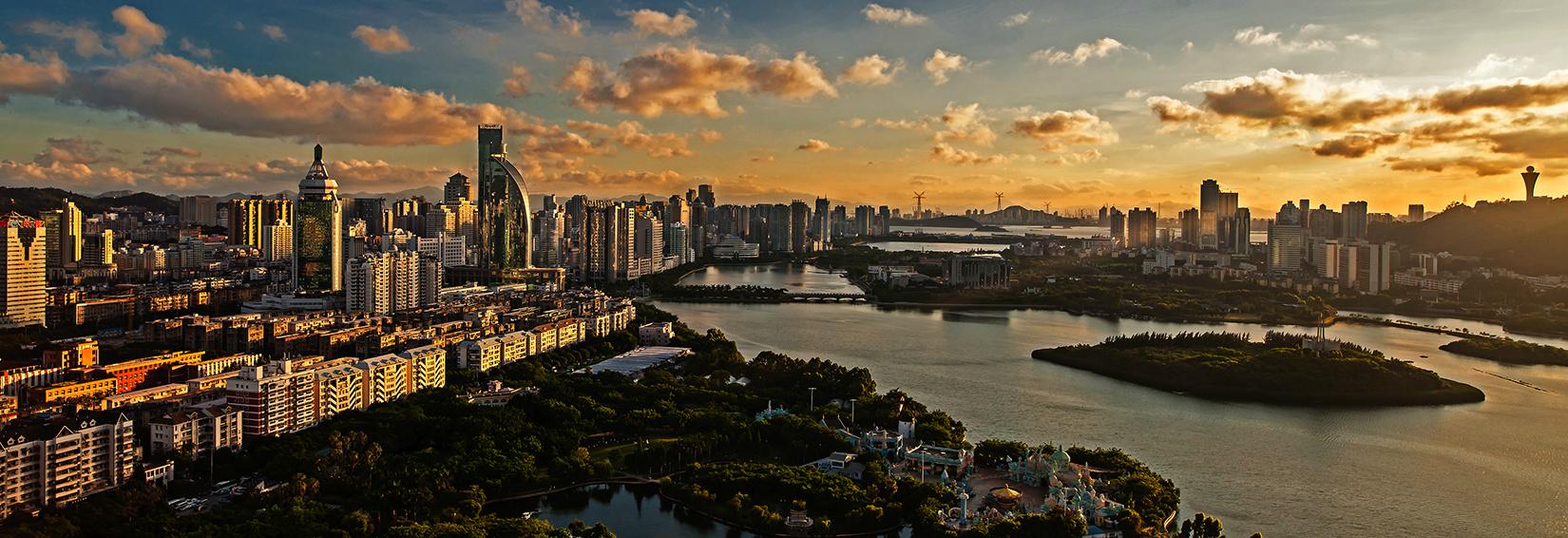 xiamen cityscape skyline