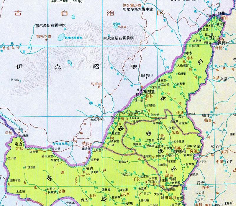 【榆林旅游指南】之行政划分and历史背景图片