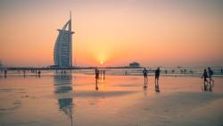 迪拜景点-朱美拉公共海滩(帆船酒店附近)(Jumeirah Public Beach)