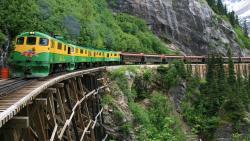 阿拉斯加景点-怀特-育空观景火车(White Pass & Yukon Route Railroad)