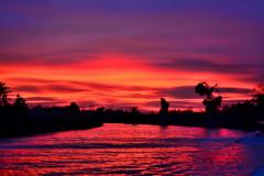 燃烧的晚霞,碧蓝的海岸线———那年的沙巴行