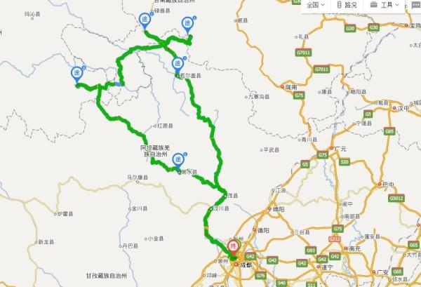 甘南景区地图全图