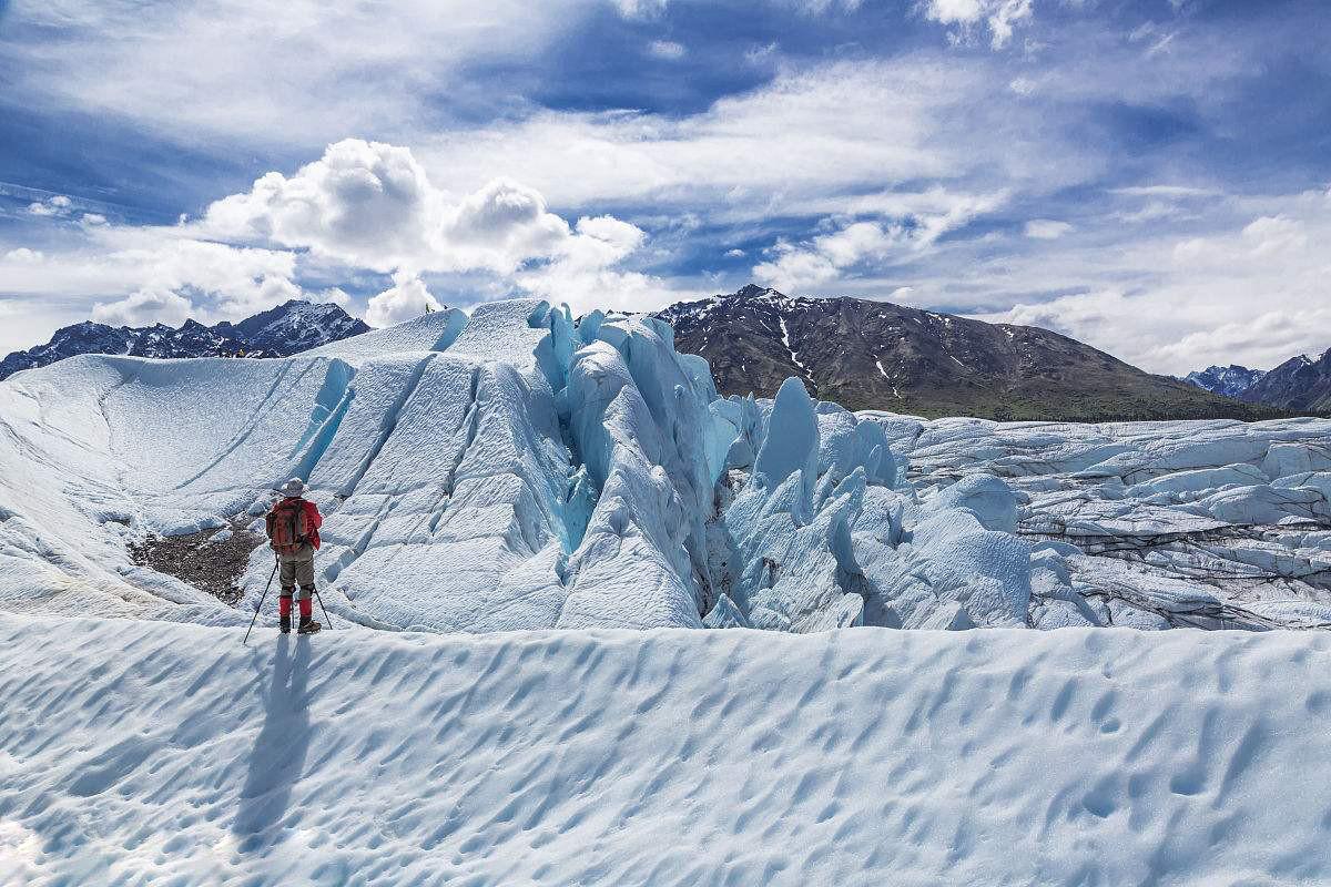 阿拉斯加冰川徒步,亲自踏足这片外太空的幽蓝空间_图7
